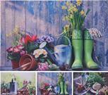 Obraz záhradné náradie a kvety OUTDOOR