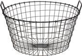 Košík čierny kovový oválny s uškami