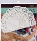 Papier biely na kraji čipkový pod tortu, zákusky / CR 249317