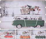 Obraz drevený, motív autobus /  CR 204559