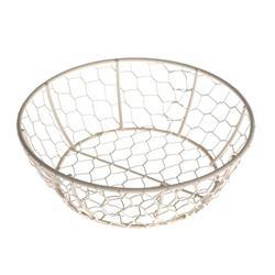 Košík drôtený okrúhly malý