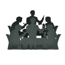 Stojan na servítky večerajúci ľudia