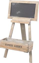 Drevenný stojan na kvetináč s tabuľou / 452839