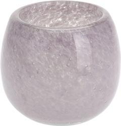 Svietnik ružovkasté sklo malý / CR 440443