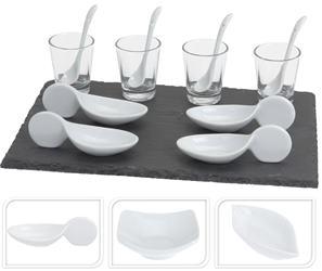 Sushi set biely na bridlicovom podnose / CR 229893