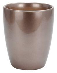 Keramický kvetináč metalický hnedý