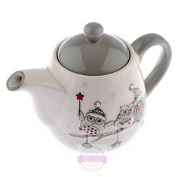 Čajník so sovičkami šedý poklop / ZIM GE834