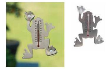 Teplomer nástenný kovový / 6080106