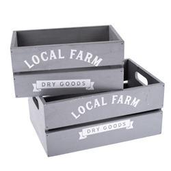"""Debnička šedá s nápisom """"Local farm"""" veľká"""