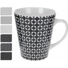Keramická, čierno - biela šálka, vysoká / CR 642906