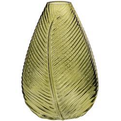 Váza sklenená palmový list / CR 278103