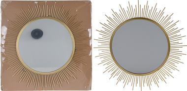 Zrkadlo v kovovom ráme