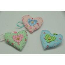 Srdce textilné s gombíkom / DD39591