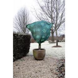 Jutové vrece so zimným vzorom zelené / 6030113