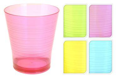 Plastový pohár nízky farebný priehľadný