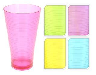 Plastový pohár vysoký farebný priehľadný