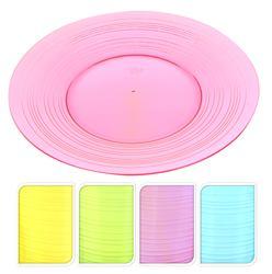 Plastový tanier veľký priehľadný farebný