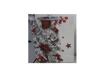 Papierová taška biela ruže, šípky, ihličie veľká / DKTAS17122