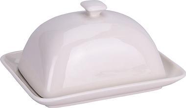 Dóza na maslo biela štvorcová / CR 625276