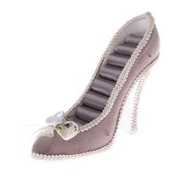 Stojan na šperky - fialová topánka