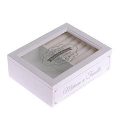 """Šperkovnička biela """"Maison de charme"""" / CR KRA191018"""