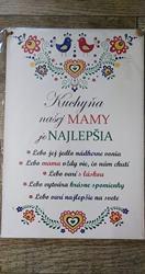 Drevená tabuľka s textom veľká