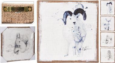 Obraz, zimné zvieratá, modré
